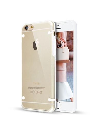 Microsonic Hybrid Transparant iPhone 8 Kılıf  Beyaz